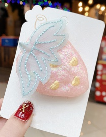 Fashion Pink Strawberry Hit Color Alloy Fabric Children's Hair Clip