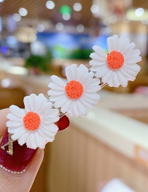 Fashion White Series Small Daisy Hit Color Flower Hairpin