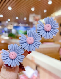 Fashion Blue Gray Series Resin Small Daisy Flower Hit Color Child Hair Clip