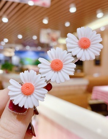 Fashion White Series Resin Small Daisy Flower Hit Color Child Hair Clip