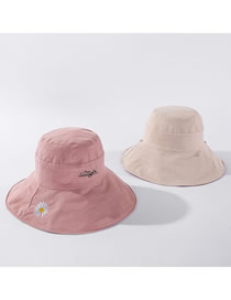 Fashion Pink + Meter Sun Flower Graffiti Embroidered Reversible Fisherman Hat