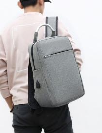 Fashion Gray Men's Backpack With Concealed Zip Panel