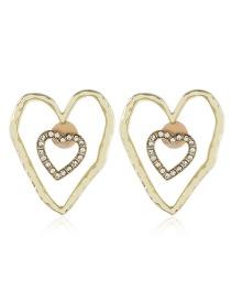Fashion White Acrylic Love Irregular Diamond Earrings