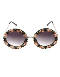 Fashion Champagne Diamond Eyeglasses Wafer Frame Too Glasses