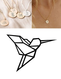 Fashion Golden-pecker Stainless Steel Carved Animal Geometric Round Titanium Steel Necklace 9mm