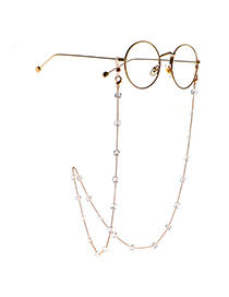 Fashion Golden Square Crystal Chain Full-hand Anti-skid Glasses Chain