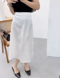 Fashion Photo Color Side Zip Skirt