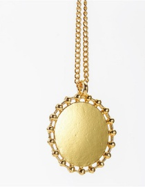 Fashion Golden Hollow Disc Alloy Necklace