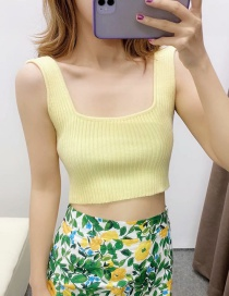 Fashion Yellow Knitted Camisole