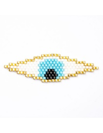 Fashion White Bead Braided Eye Accessories