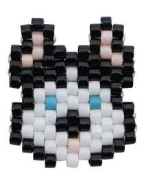 Fashion White Pig Bead Braided Beaded Accessories