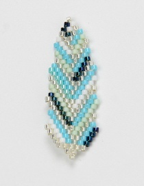 Fashion Blue Leaves Bead Woven Fruit Plant Flower Series Accessories