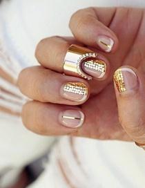 Fashion Golden Alloy Diamond Ring