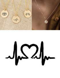 Fashion Rose Gold Stainless Steel Engraved Ecg Adjustable Necklace 9mm