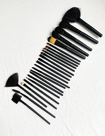 Fashion Black 24pcs Wooden Makeup Brush Set