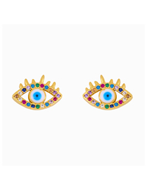Fashion Eye Zircon Palm Eye Alloy Stud Earrings