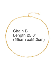 Fashion Chain (55 + 5) Alloy Hollow Chain Necklace