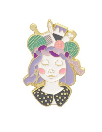 Fashion Color Mixing Queen Dripping Alloy Contrast Brooch