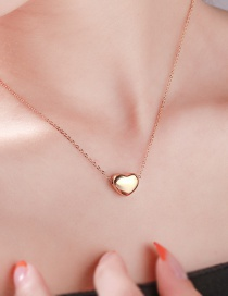 Fashion Golden 24k Gold Plated Stainless Steel Heart Necklace
