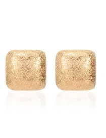Fashion Golden Geometric Square Metal Earrings