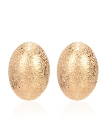Fashion Golden Geometric Oval Alloy Stud Earrings