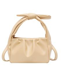Fashion Yellow Pleated Shoulder Bag