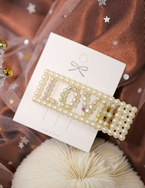 Fashion White Diamond And Pearl Pearl Hollow Hairpin