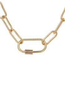 Fashion Gold 40cm Alloy Ring Necklace