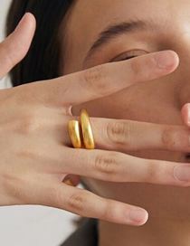 Fashion Golden Adjustable Brass Gold Plated Ring
