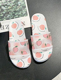 Fashion Peach With White Fruit Bottom Fruit Sandals