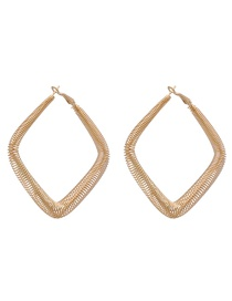 Fashion Party + Gold Alloy Geometric Spring Studs