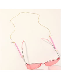 Fashion Pink Soft Ceramic Anti-skid Glasses Chain