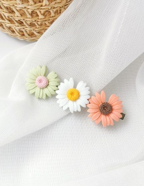 Fashion Three Flowers (orange: White: Green) Daisy Duck Clip