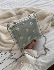 Fashion Green Tea Transparent Chain Shoulder Bag