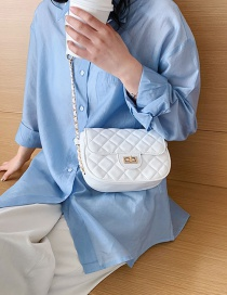 Fashion White Diamond Chain Single Shoulder Satchel