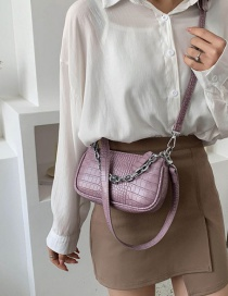 Fashion Violet Stone Chain Chain Shoulder Bag