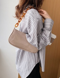 Fashion Khaki Bright Face Chain Shoulder Bag
