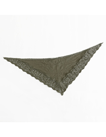 Fashion Army Green Lace Scarf Small Shawl