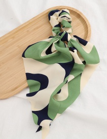 Fashion Green Fabric Double Ponytail Floating Towel Hair Ring