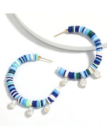 Fashion Blue Cappuccino Pearl Earrings