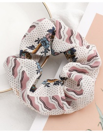 Fashion White Flower Print Fabric Hair Band