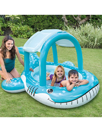 Fashion Separate Pool Whale Shade Inflatable Baby Swimming Pool