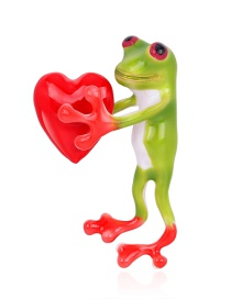 Fashion Colour Alloy Dripping Love Frog Brooch