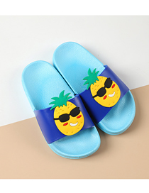 Fashion Cool Pineapple Fruit Animal Hit Color Non-slip Soft Bottom Word Children Slippers
