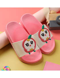 Fashion Little Peach Fruit Animal Hit Color Non-slip Soft Bottom Word Children Slippers