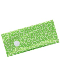 Fashion Green Buttoned Headband Printed Elastic Wide-brimmed Hair Band