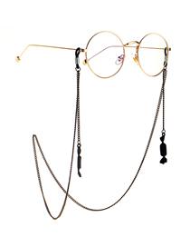 Fashion Black Hanging Neck Candy Pendant Glasses Chain