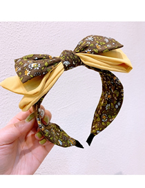 Fashion Yellow Three-layer Bow-knot-knot Hairband
