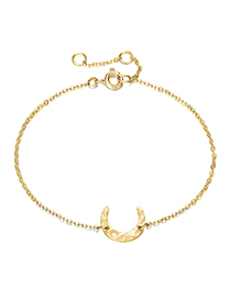 Fashion 14k Gold Stainless Steel Moon Adjustable Thin-edged Bracelet
