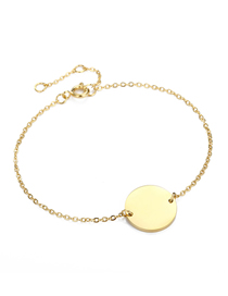 Fashion 14k Gold Geometric Large Round Chain Adjustable Bracelet